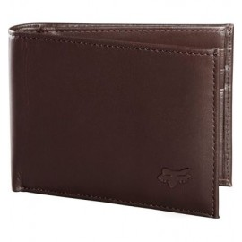 BIFOLD LEATHER WALLET [BRN]